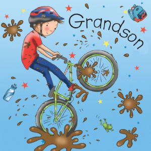 TW675 - Birthday Card For Grandson Bike